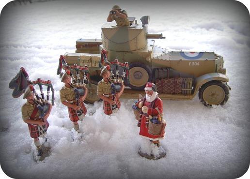 Christmas Bagpipers